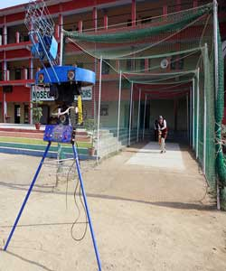 Cricket Bowling Machine at Nosegay Public School(Happy Ma'am)