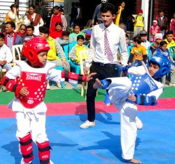 Taekwondo Classes at Nosegay Public School(Happy Ma'am)