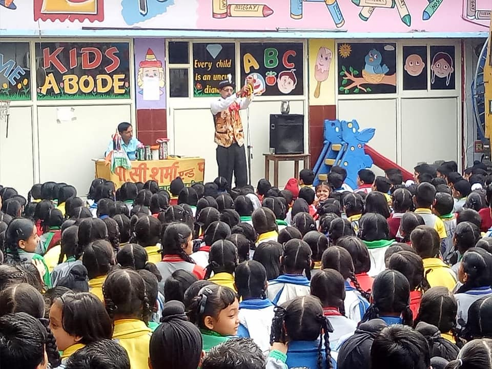 Magic Show in the school to raise fund for Red Cross Society.